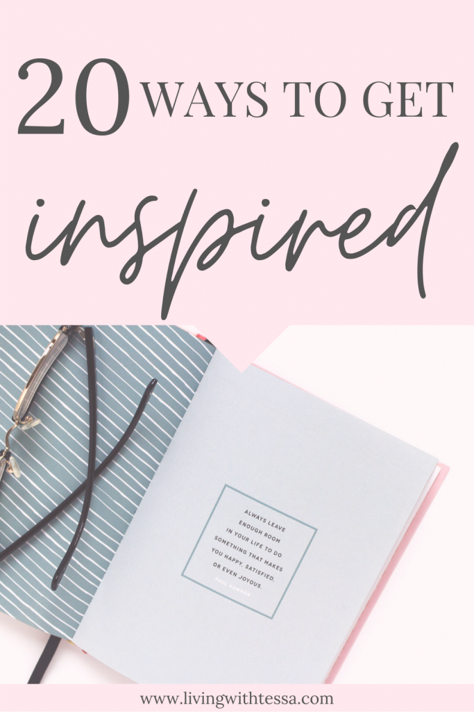 Are you feeling stuck in life? Let me help you with these 20 tips to get inspiration. From now on, you'll be motivated and excited for life, ready to make your dreams come true. #inspiration #motivation #excited #howtobehappy #be inspired #lovelife